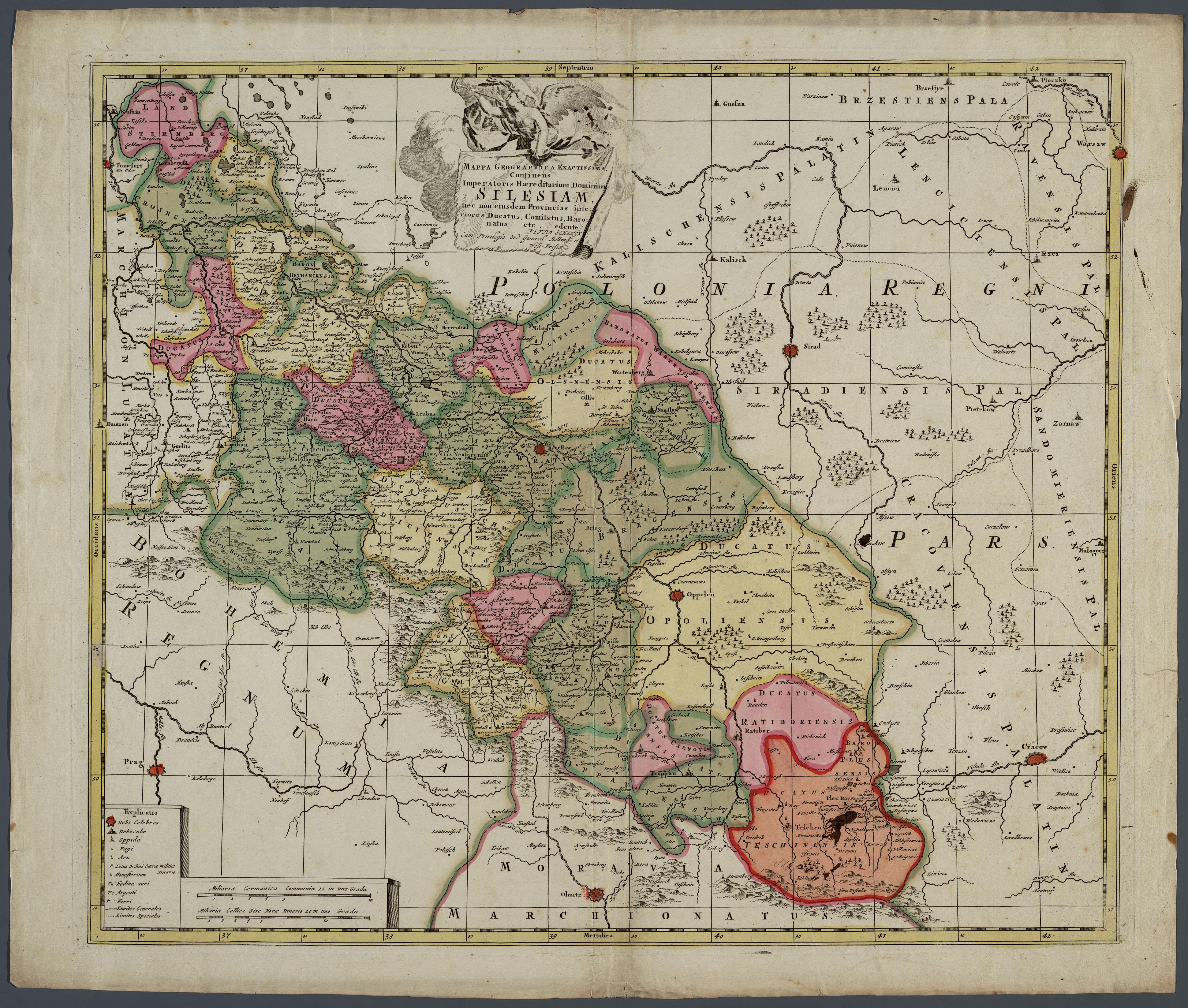 Schlesien Karte Deutsche Ortsnamen.Familia Austria Historische Karten