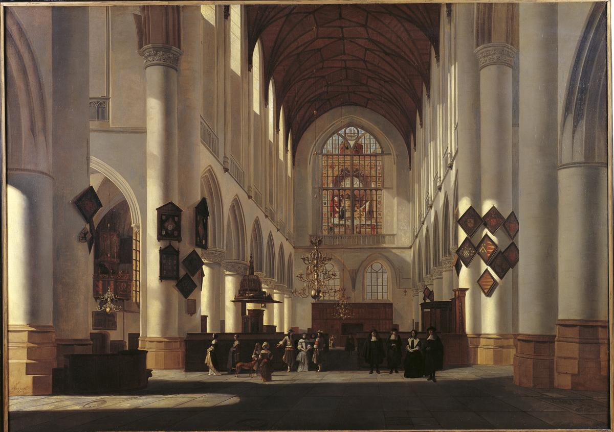 Interieur van de grote of st bavokerk te haarlem gezien for Interieur online
