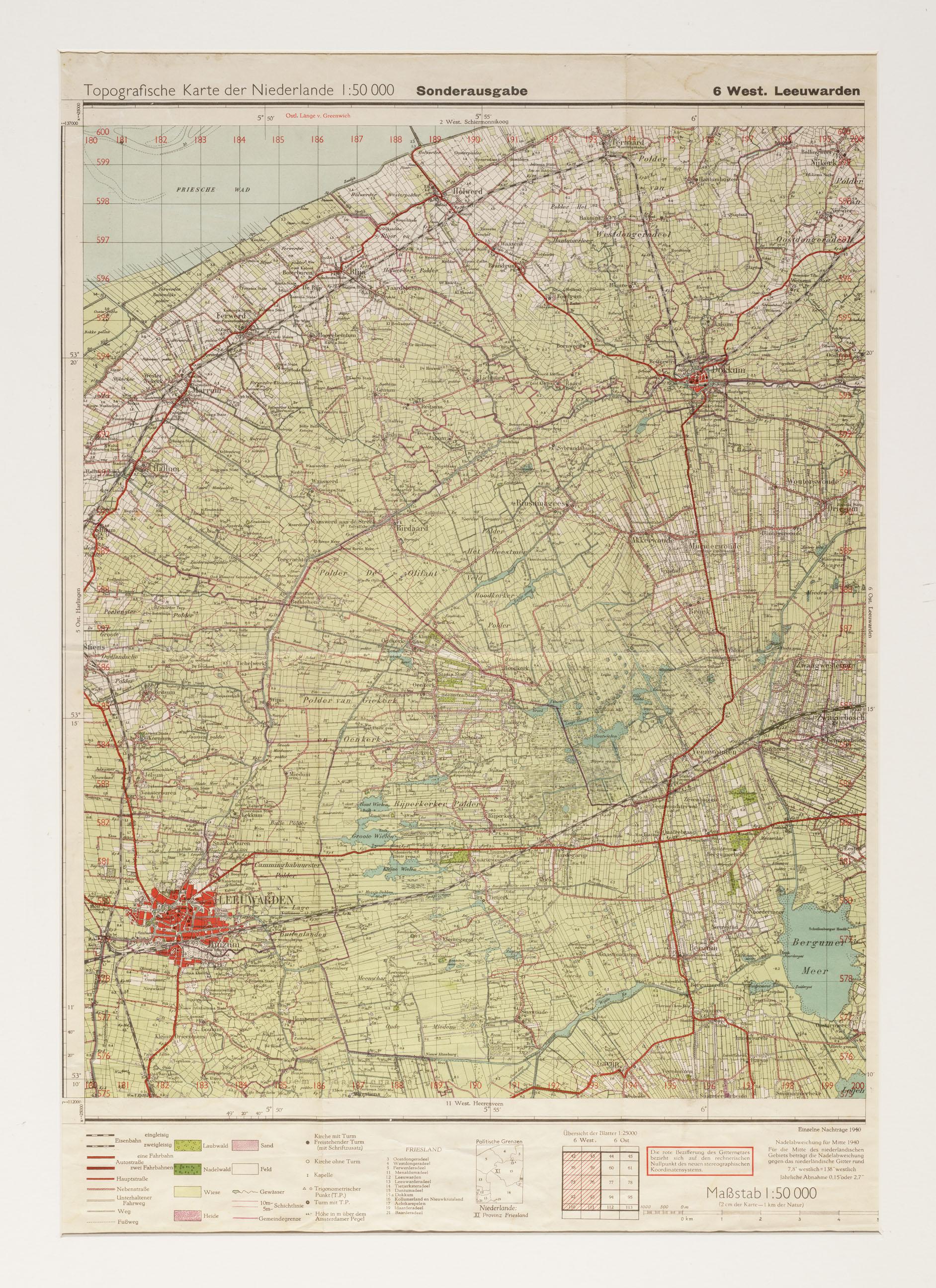 Kaart van de noord friesland tussen leeuwarden en dokkum het geheugen van nederland online - Kaart evenwicht tussen werk en ...