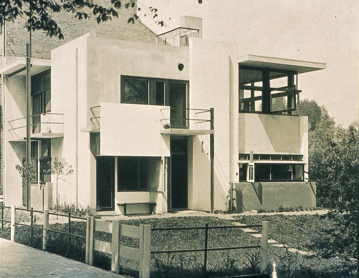 Foto van de entree van het rietveld schr der huis te utrecht het geheugen van nederland - Deco entree in het huis ...
