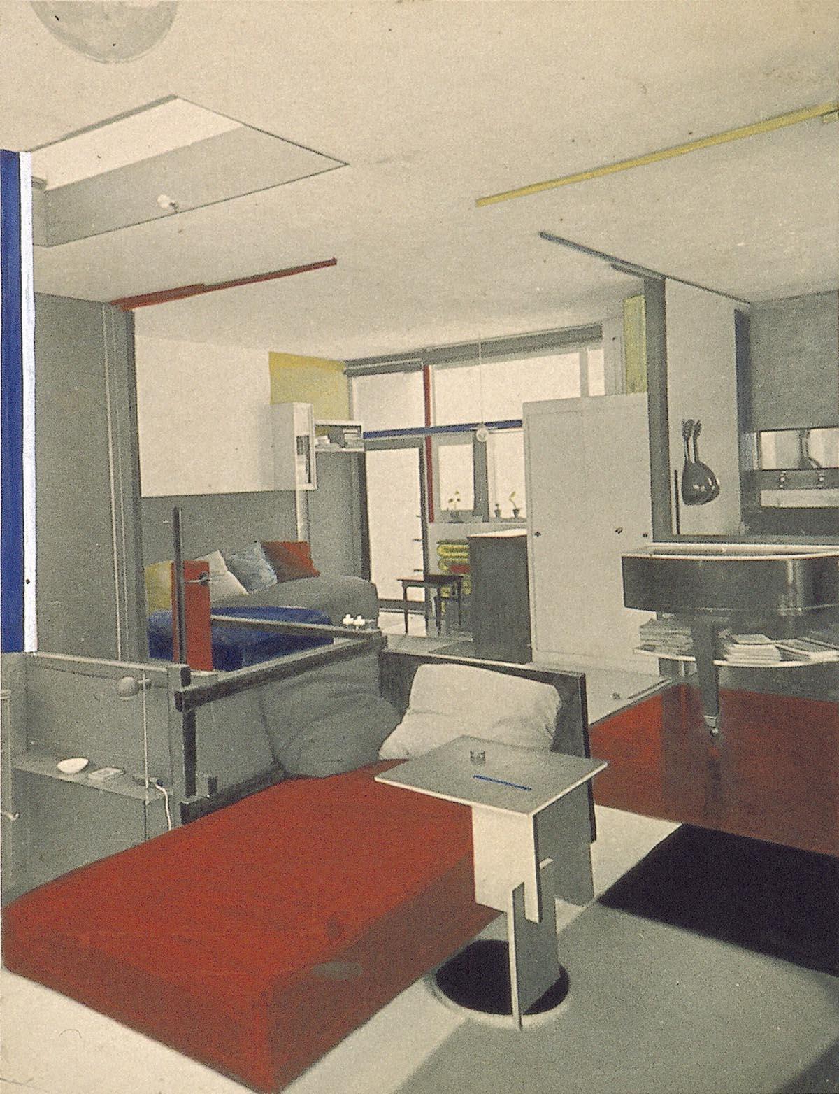 Foto van woon- en slaapkamer met scheidingswanden (eerste verdieping ...