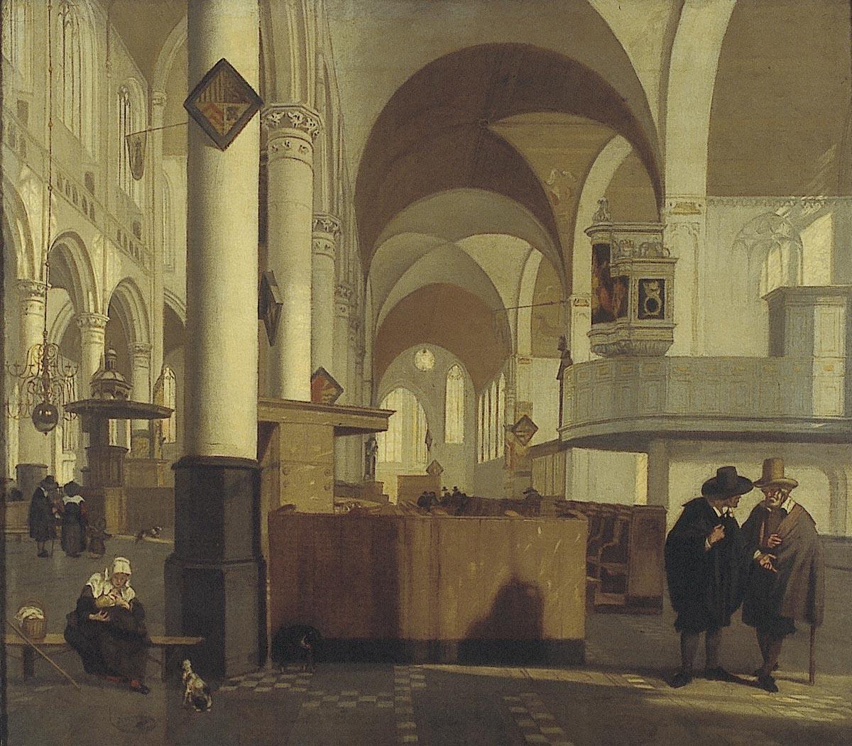 Interieur van de oude kerk te amsterdam het geheugen van for Interieur amsterdam