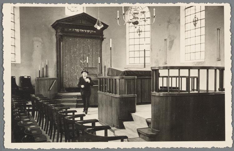 Interieur synagoge drieringensteeg amersfoort 1949 het for Interieur amersfoort