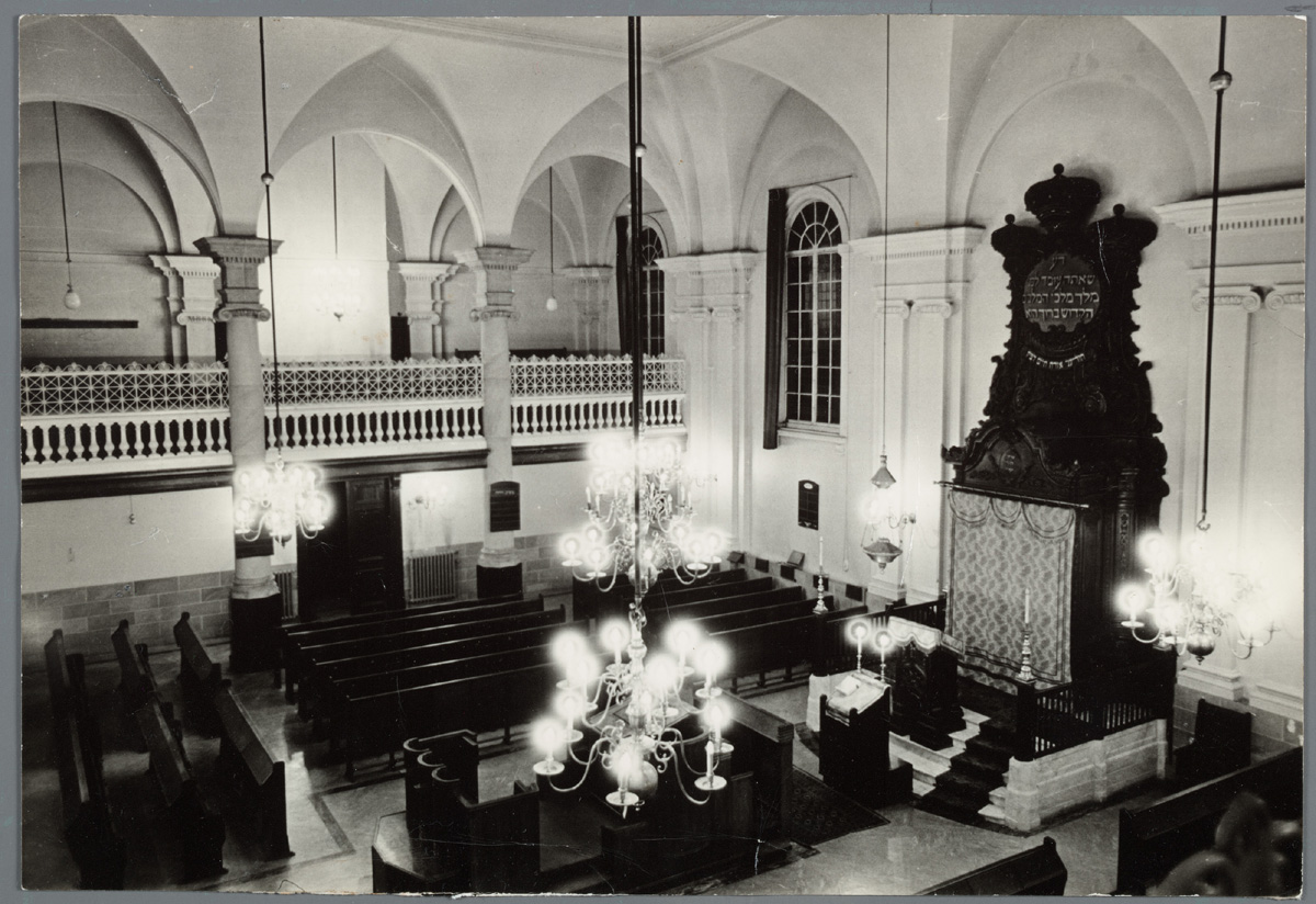 Overzichtsfoto interieur synagoge wagenstraat in den haag for Interieur den haag