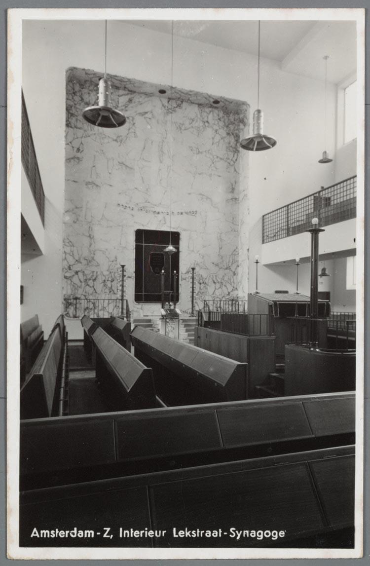 Prentbriefkaart met het interieur van de lekstraat for Interieur amsterdam