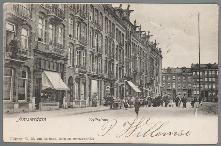 Prentbriefkaart van de vrolikstraat in amsterdam oost ca for Beste shoarma amsterdam oost