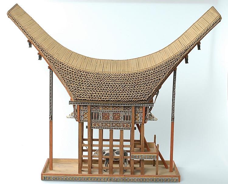 Model van een toraja huis geheugen van nederland - Model bibliotheek houten ...