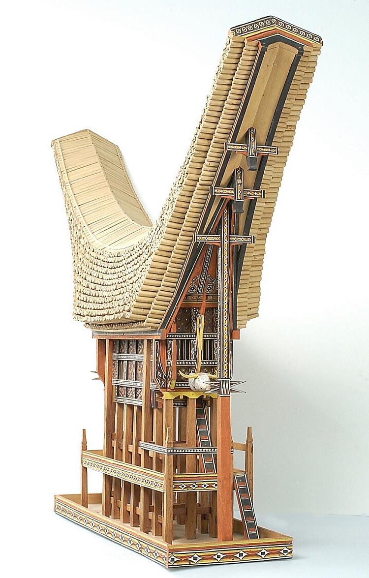 Model van een toraja huis het geheugen van nederland online beeldbank van archieven musea - Model van huisarchitectuur ...