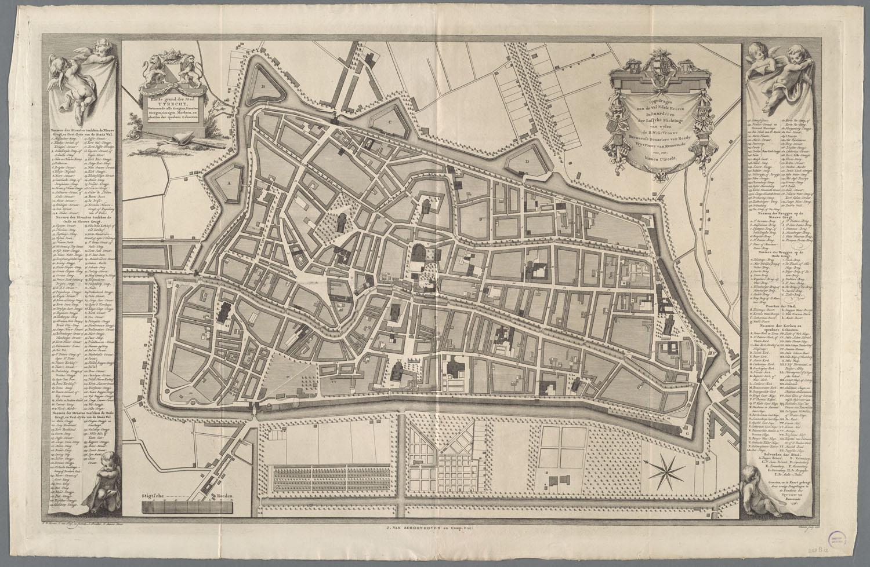 Plattegrond der stad utrecht het geheugen van nederland for Ontwerp plattegrond