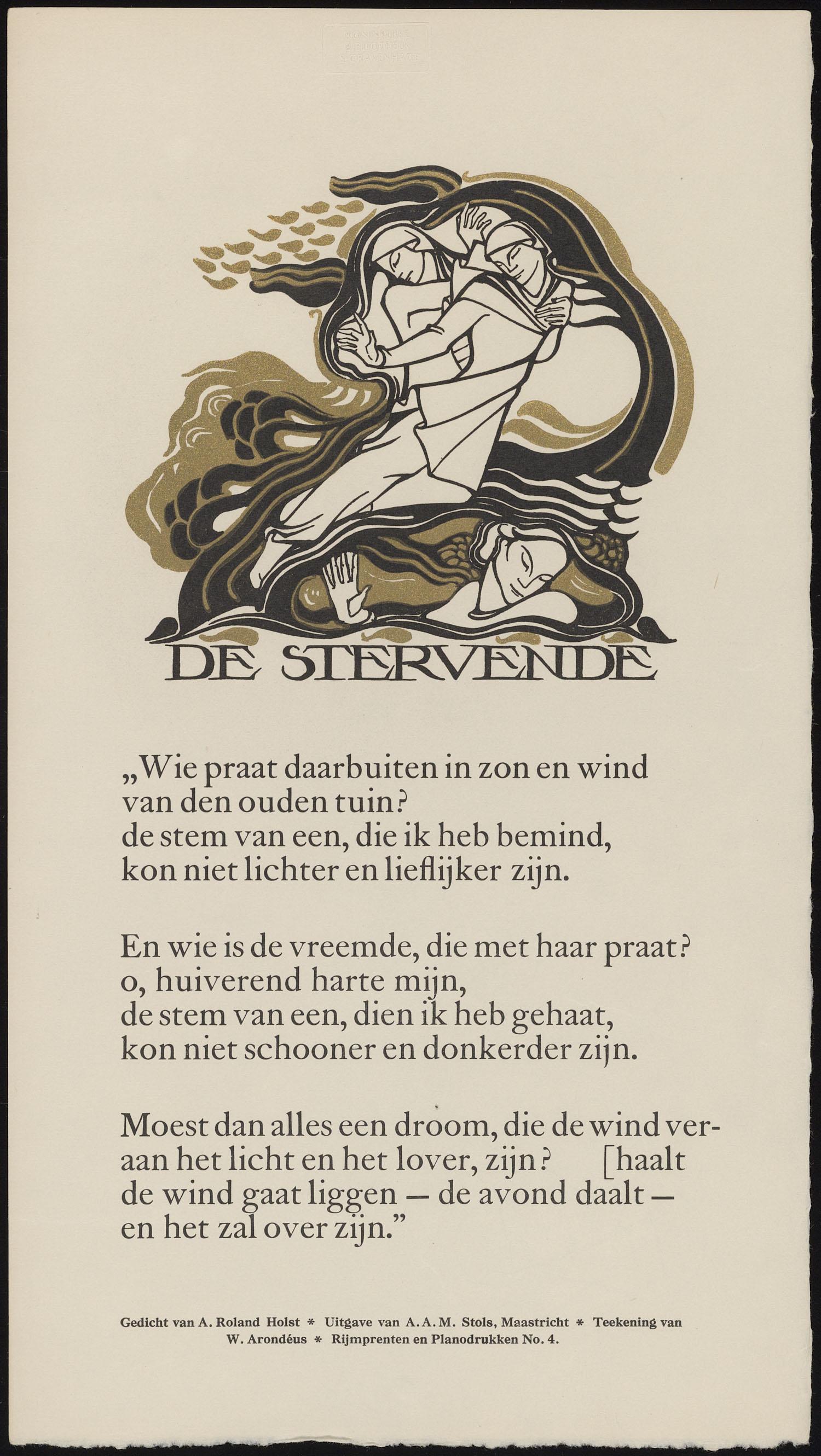 De Stervende Gedicht Van A Roland Holst Teek Van W