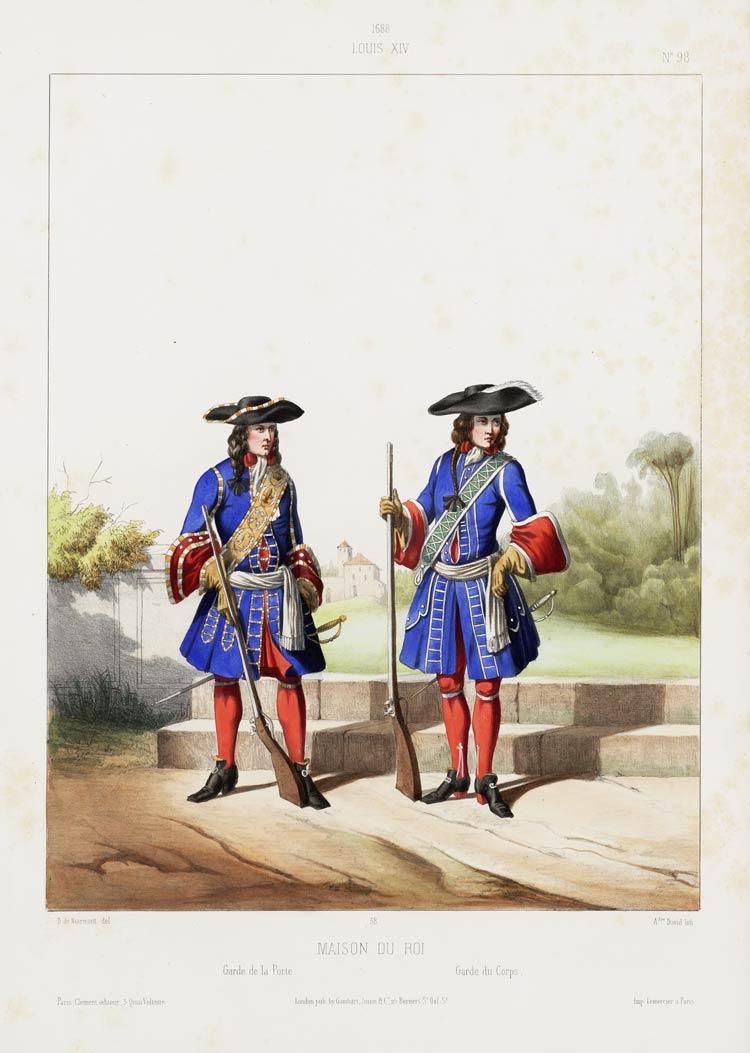 1688 louis xiv maison du roi garde de la porte garde du corps memory of - Maison du monde la garde ...