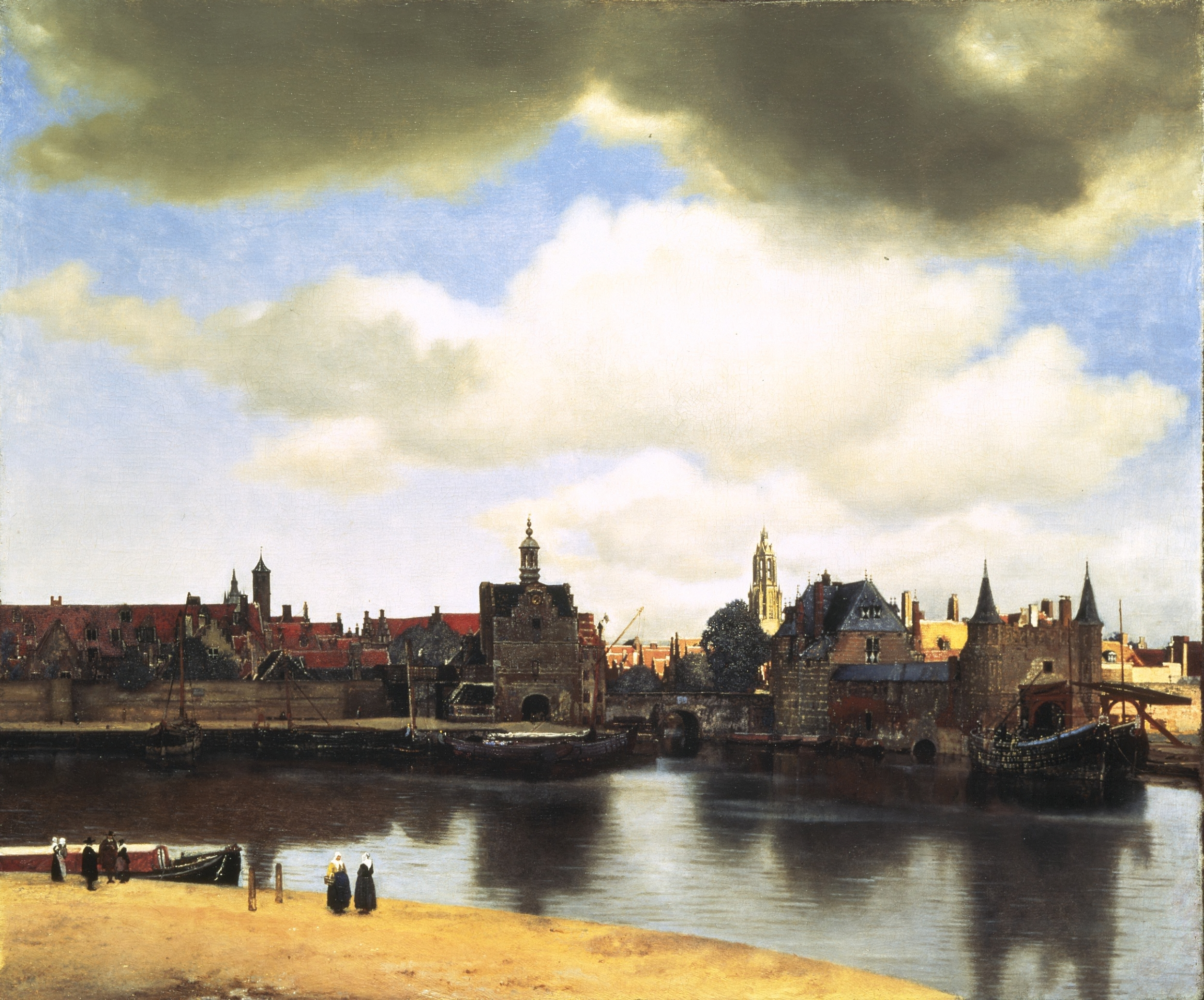Painting by Vermeer View of Delft