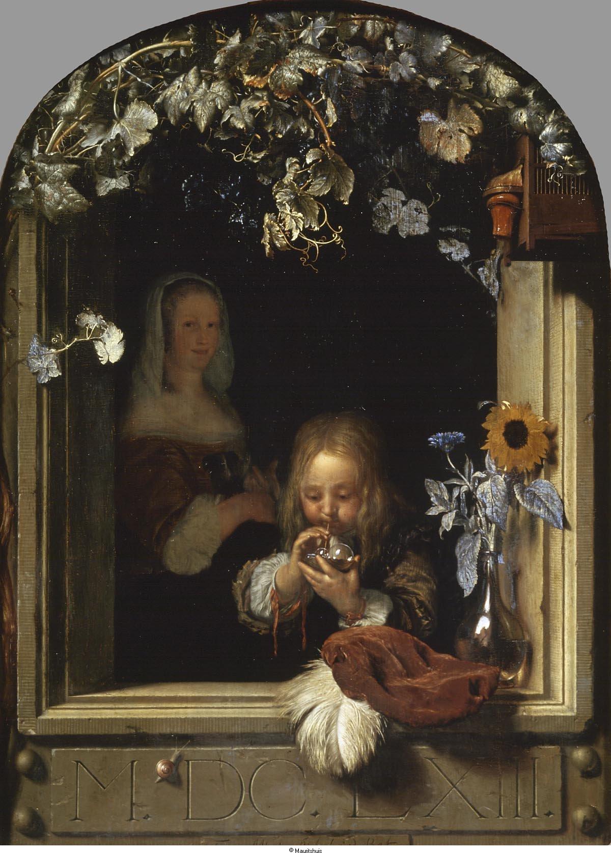 Een bellenblazende jongen het geheugen van nederland online beeldbank van archieven musea - Deco schilderij slaapkamer jongen ...