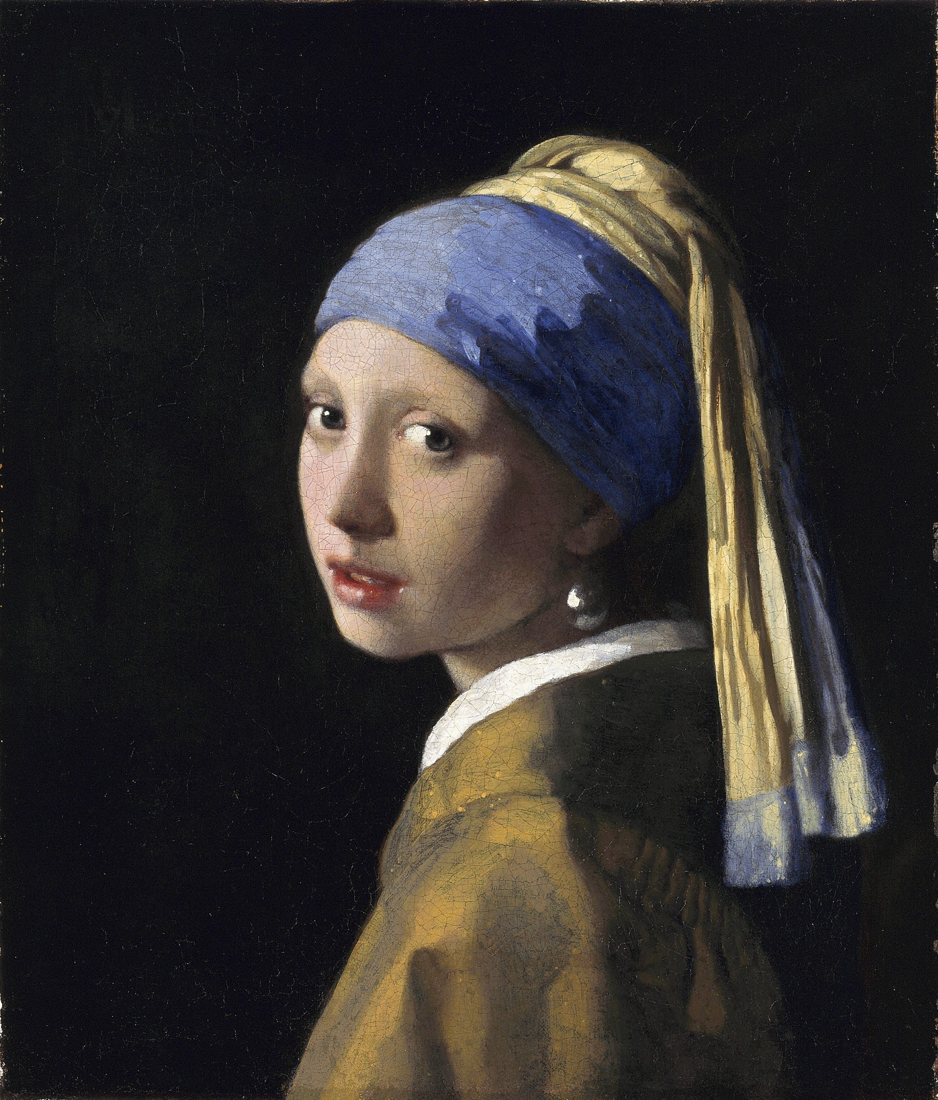 Girl with a pearl earring, painting by Johannes Vermeer