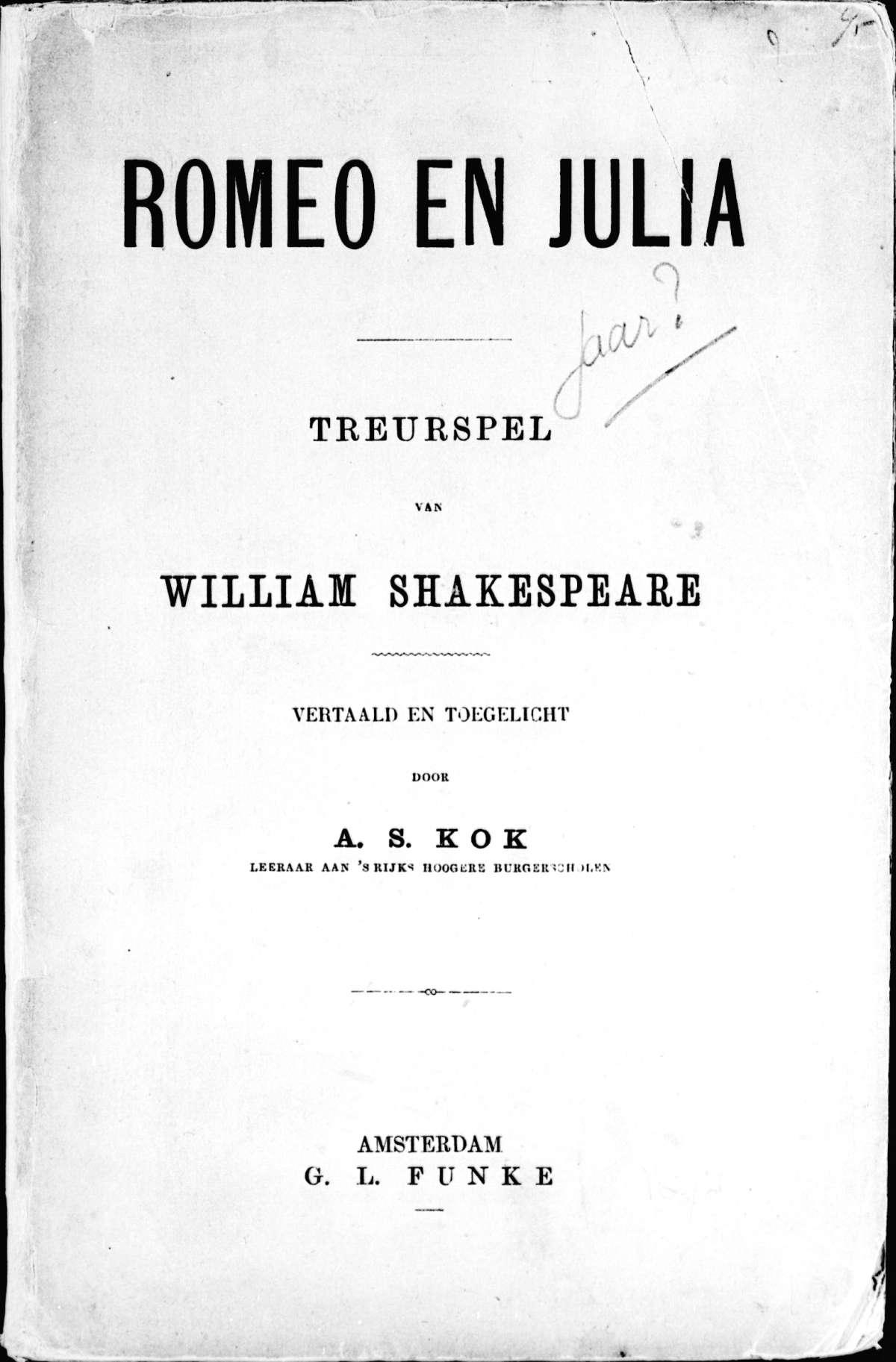 Citaten Uit Romeo En Julia : Romeo en julia treurspel het geheugen van nederland