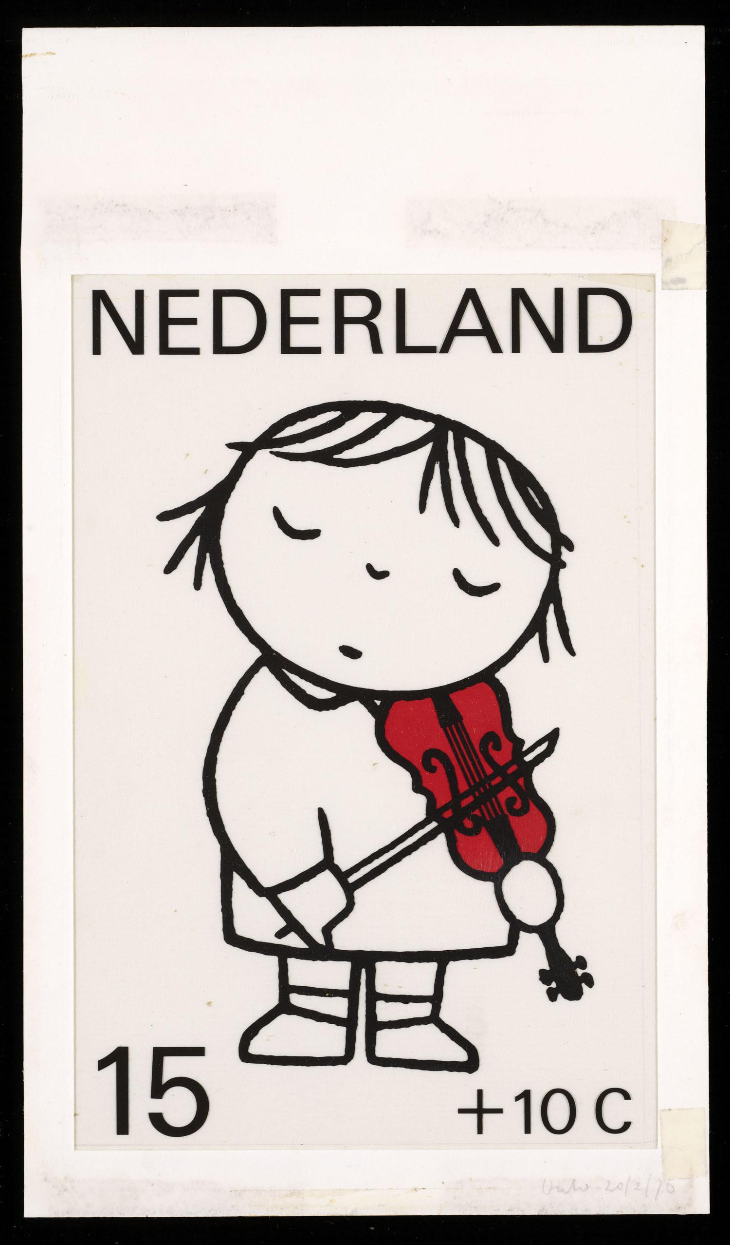 ontwerp voor kinderpostzegels nederland 1969 met