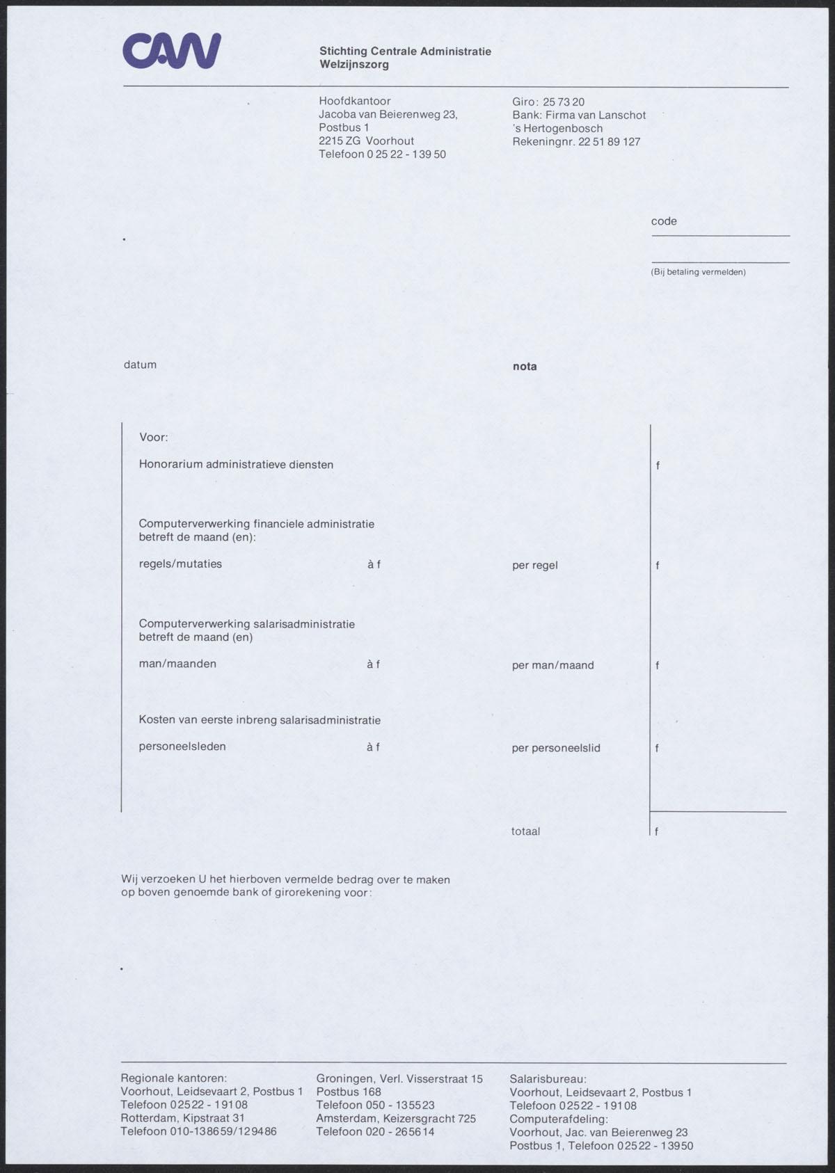 factuur papier Factuur Papier   gantinova