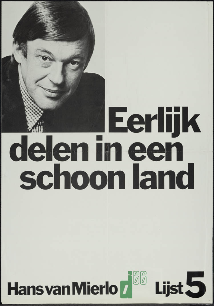 Verkiezingsaffiche uit 1972