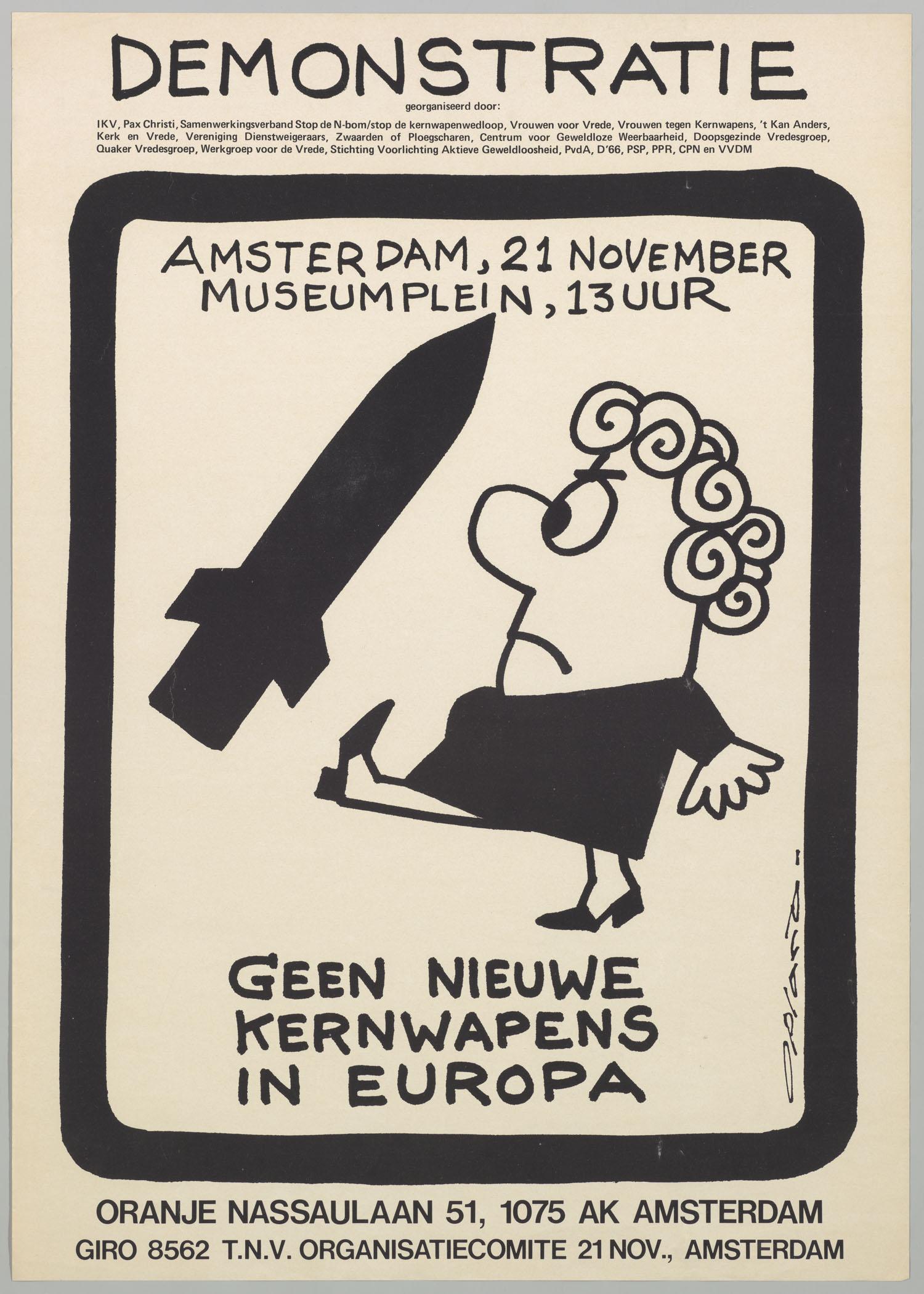 Demonstratie geen nieuwe kernwapens in europa amsterdam for Demonstratie amsterdam