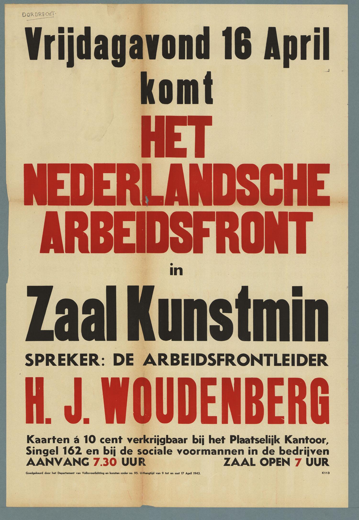 Het nederlandsche arbeidsfront geheugen van nederland - Klein kamermeisje ...