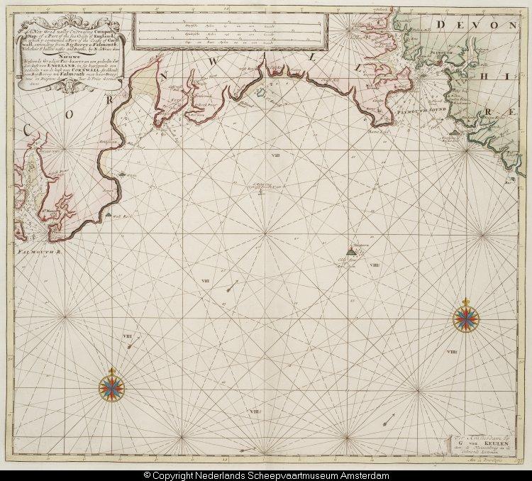 Kaart van een deel van de engelse zuidkust tussen plymouth en falmouth het geheugen van - Kaart evenwicht tussen werk en ...