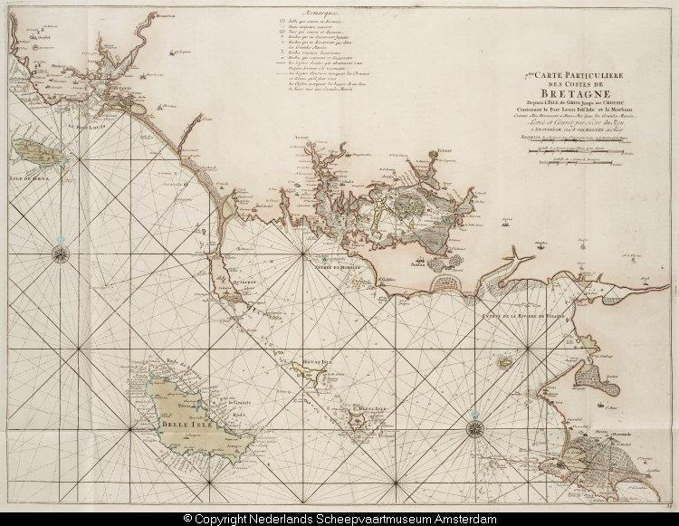 Kaart van de kust van bretagne tussen port lous en le croisic het geheugen van nederland - Kaart evenwicht tussen werk en ...