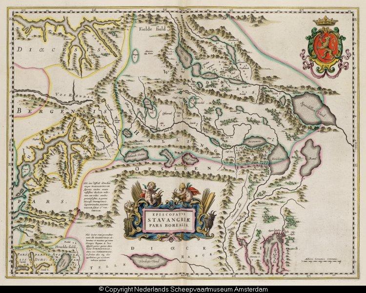 Kaart van het noordelijk deel van het bisdom stavanger memory of the netherlands online - Noordelijke deel ...