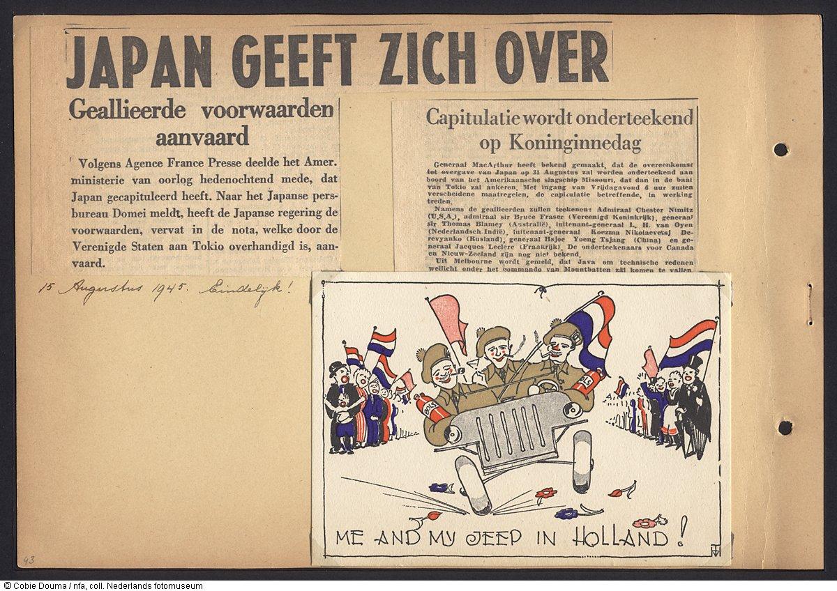 Krantenartikelen Over De Capitulatie Van Japan 15