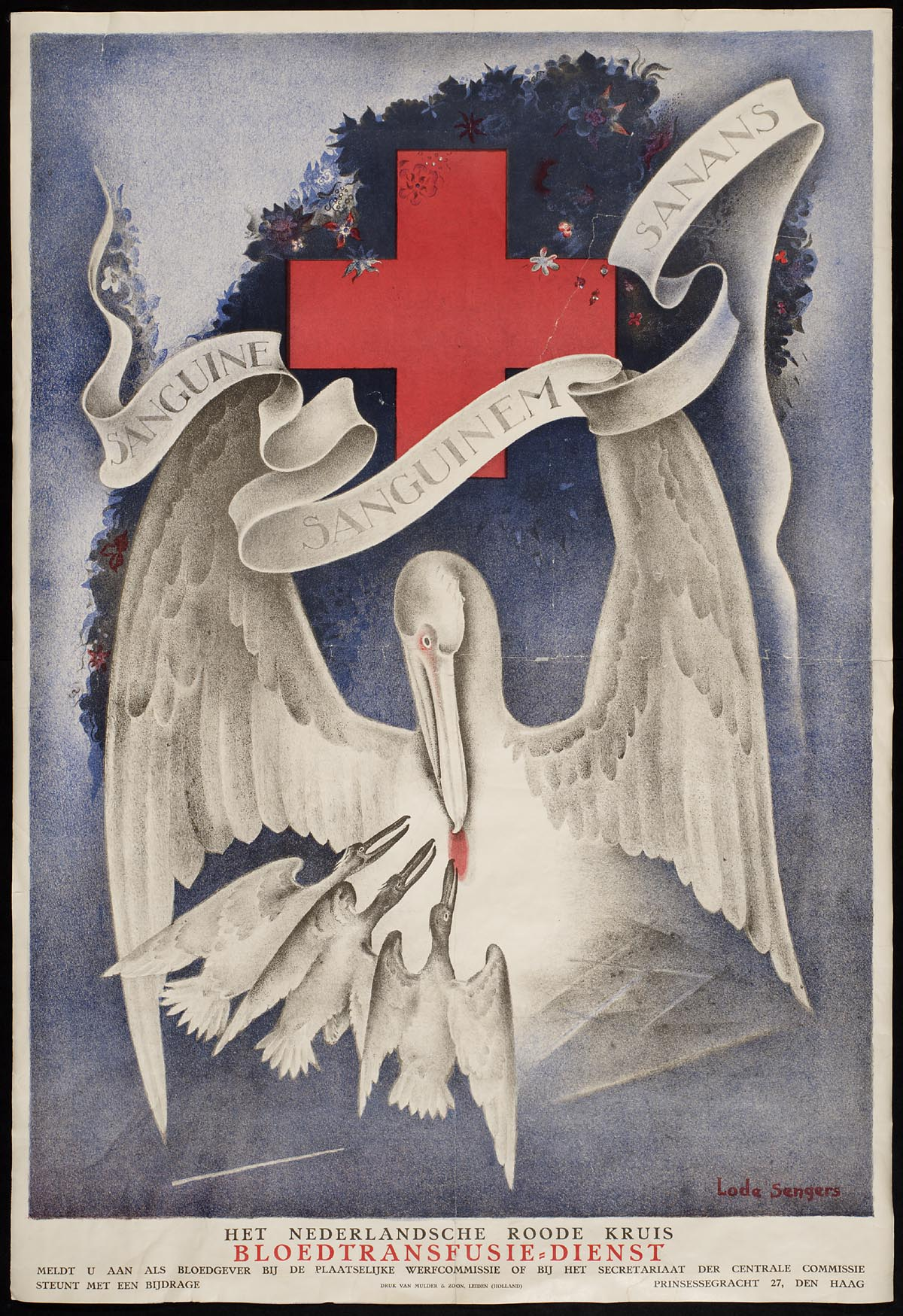 Sanguine sanguinem sanans. Het Nederlandsche Roode Kruis...