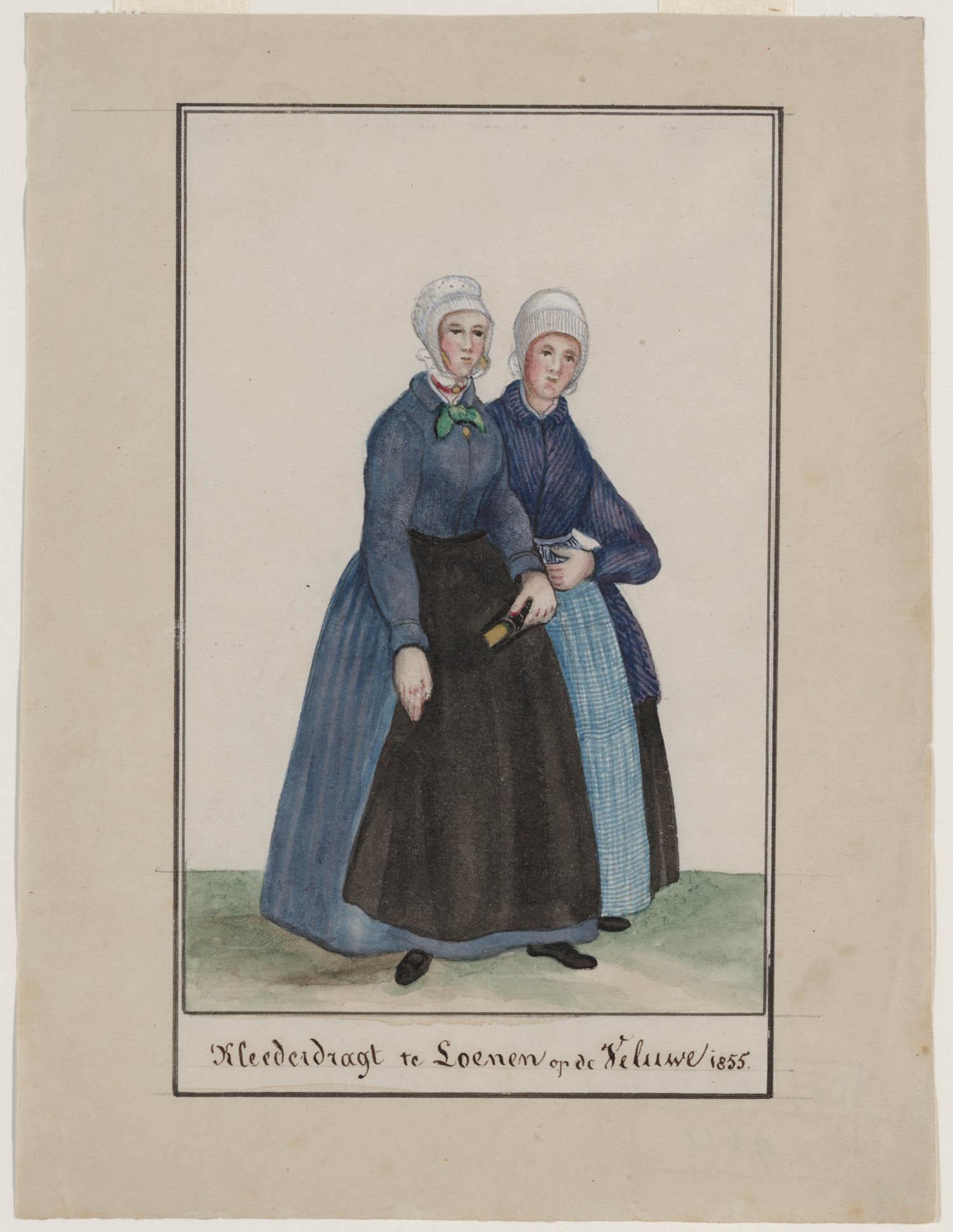 Kleederdracht te loenen op de veluwe 1855 geheugen van nederland - Klein kamermeisje ...