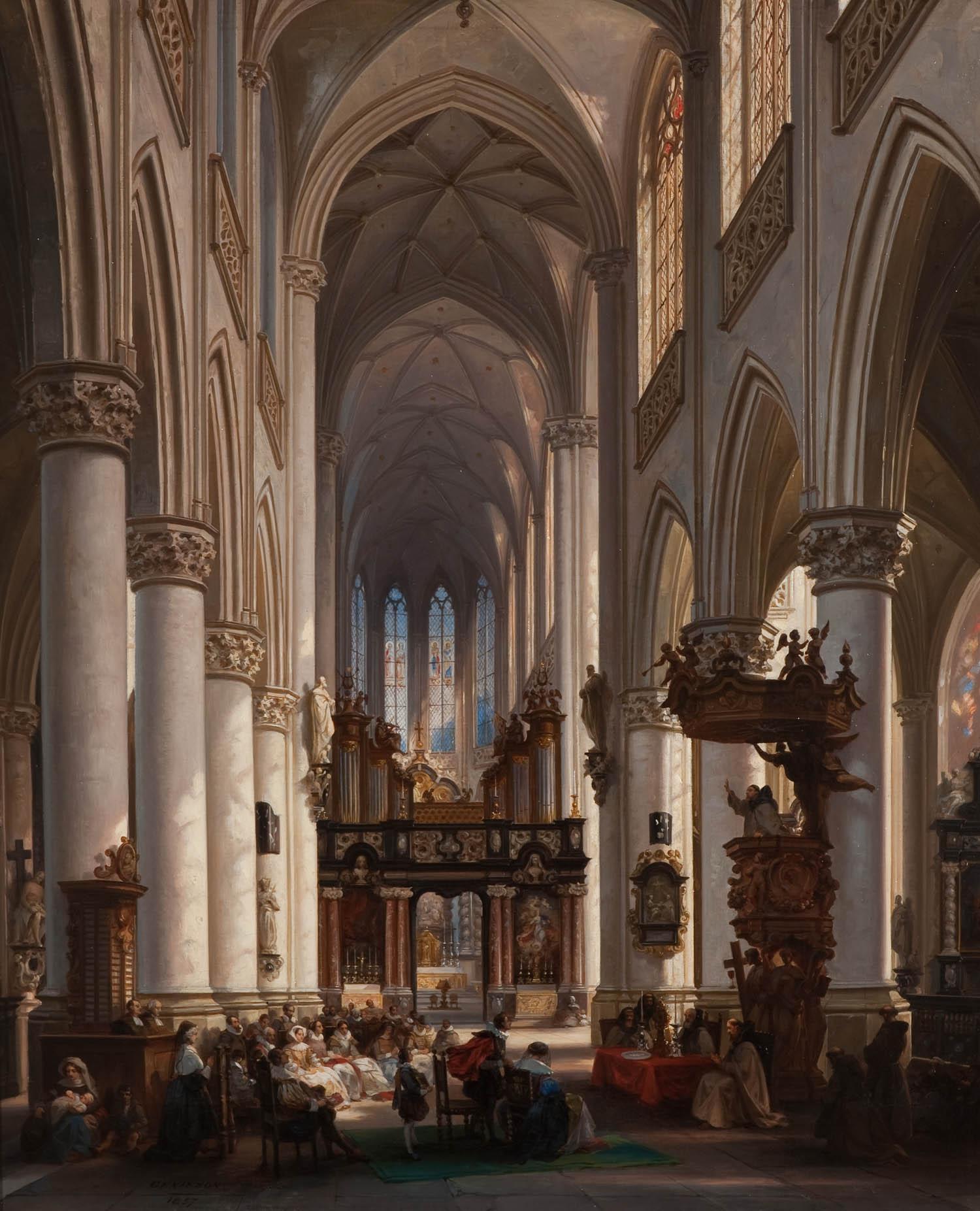 interieur kerk antwerpen 1857 het geheugen van