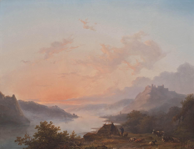 Landschap bij ochtendstond het geheugen van nederland online beeldbank van archieven musea - Bron schilderijen ...