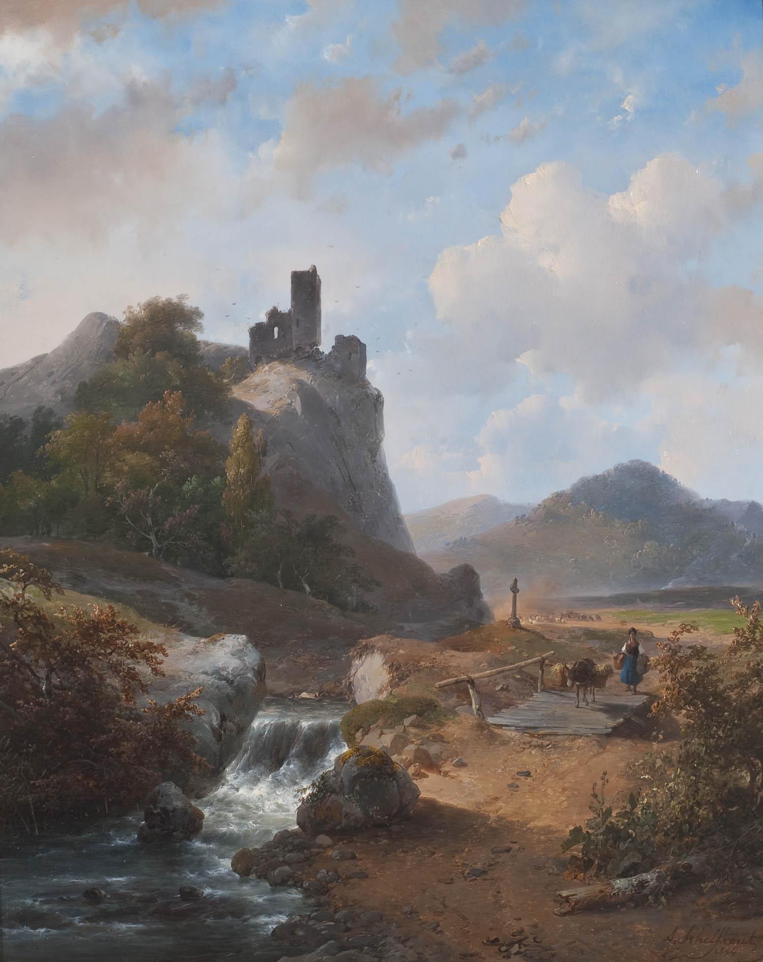 Duits landschap met ru ne 1844 geheugen van nederland - Klein kamermeisje ...