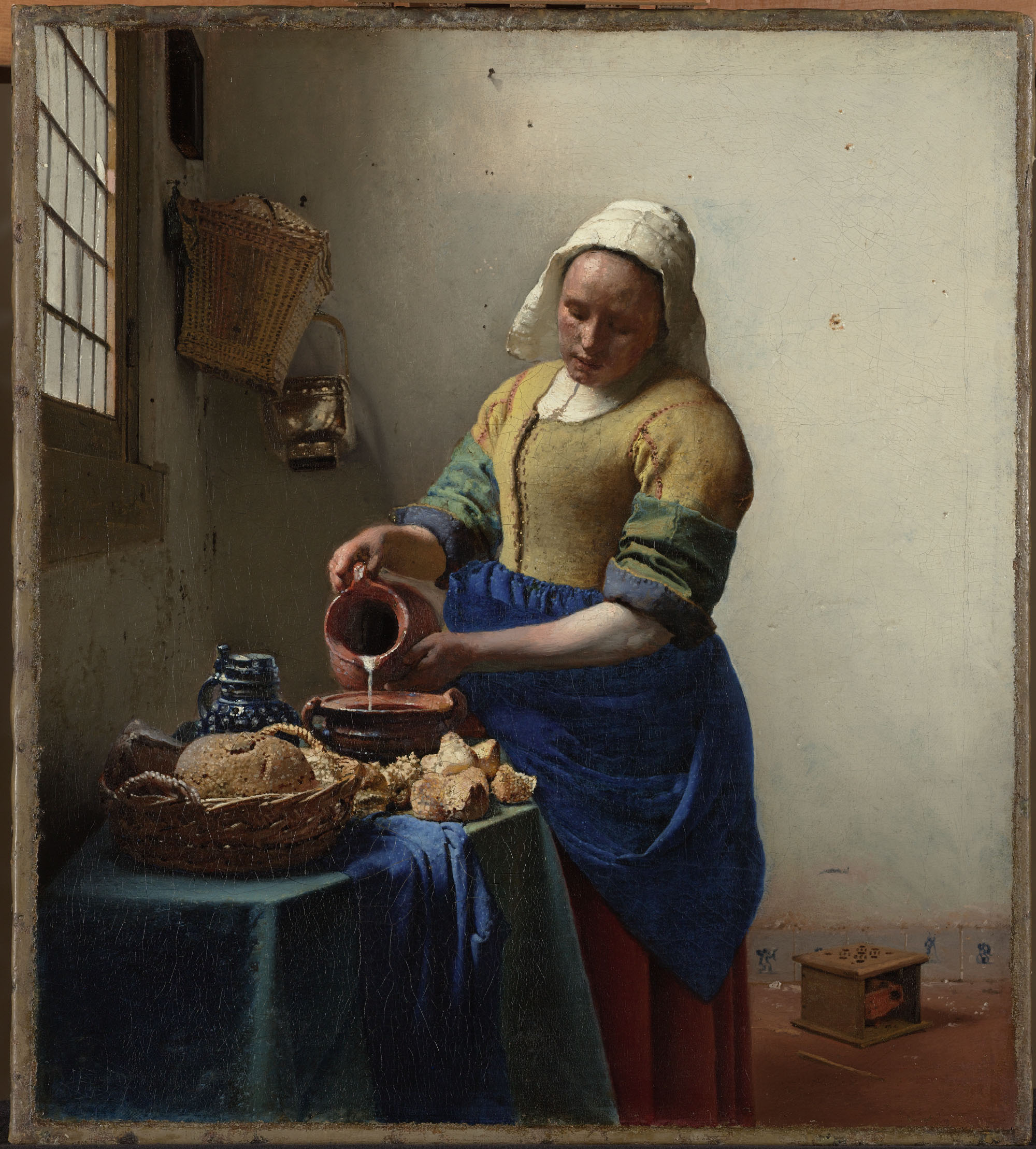 Vermeer's painting The Milkmaid