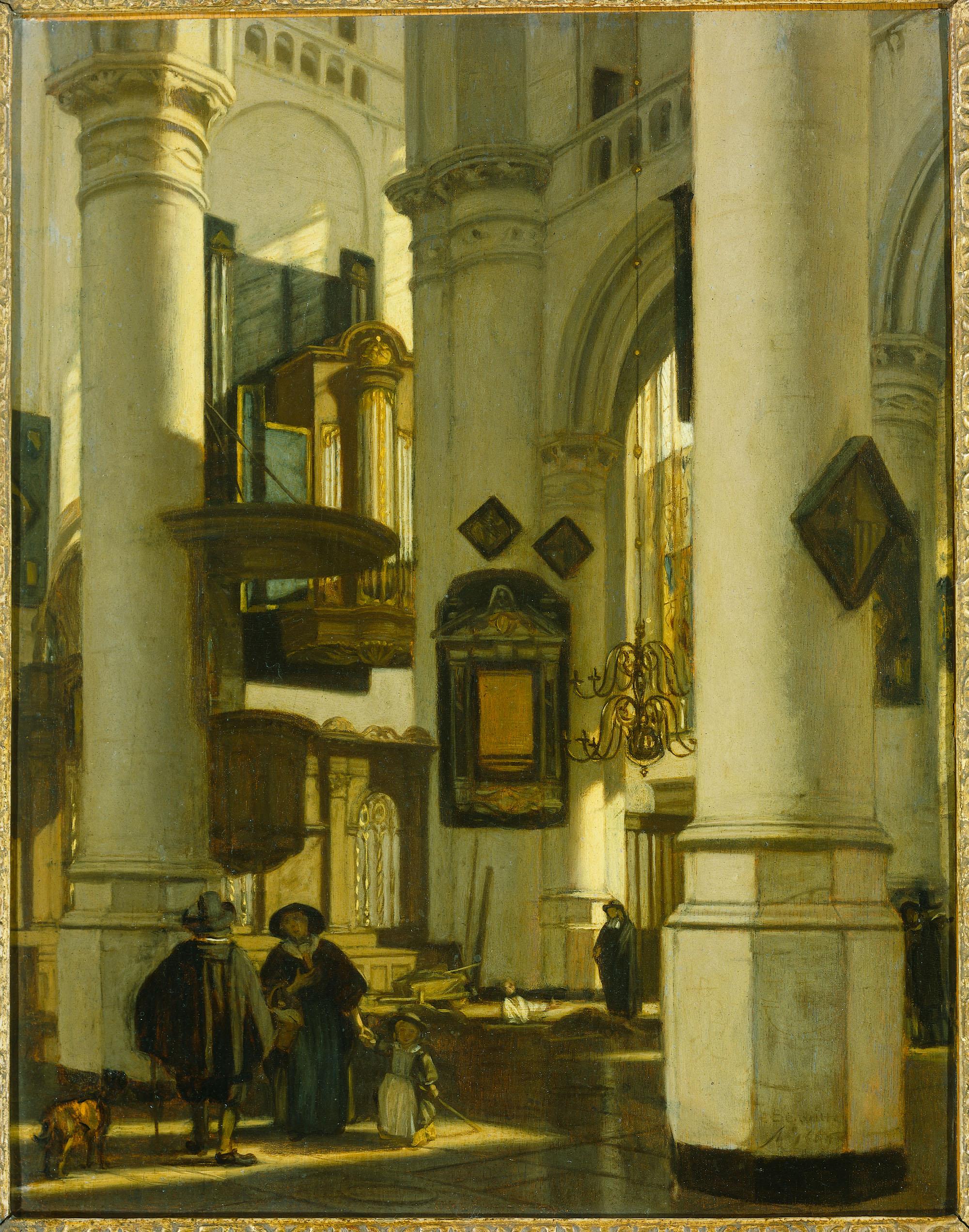 Interieur van een protestantse gotische kerk met motieven for Interieur amsterdam