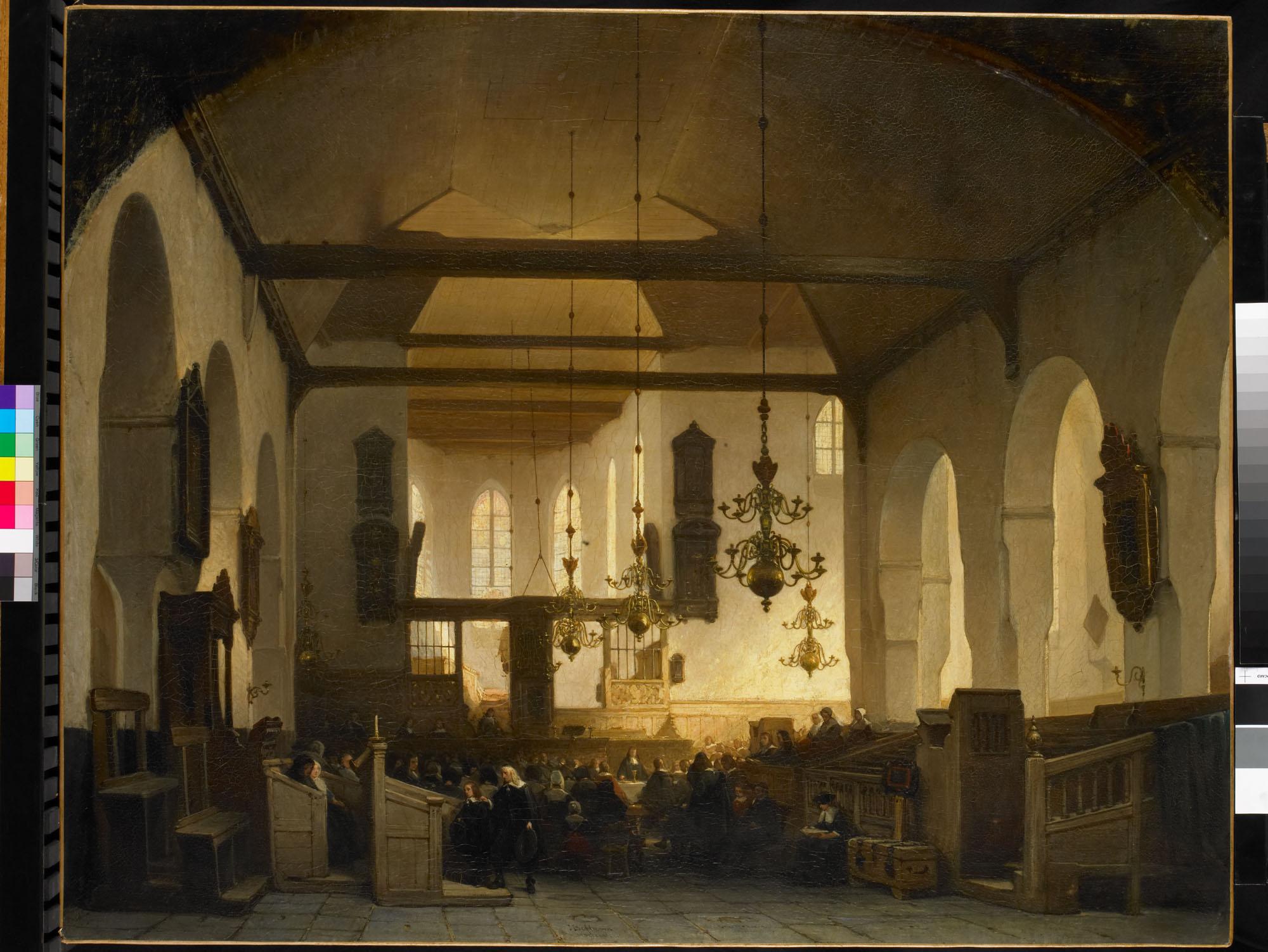 Interieur van de geertekerk te utrecht met de viering van for Interieur utrecht