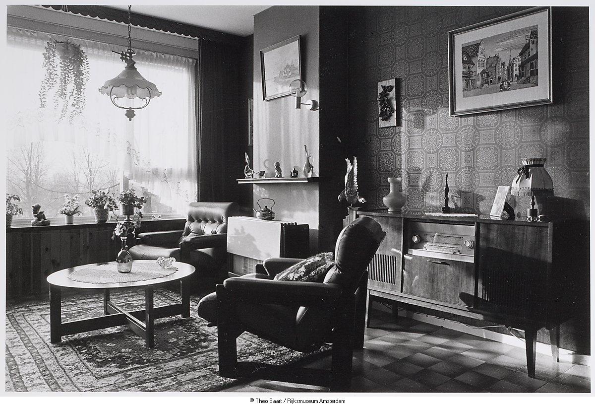 Interieur van woning het geheugen van nederland online - Makers van het interieur ...