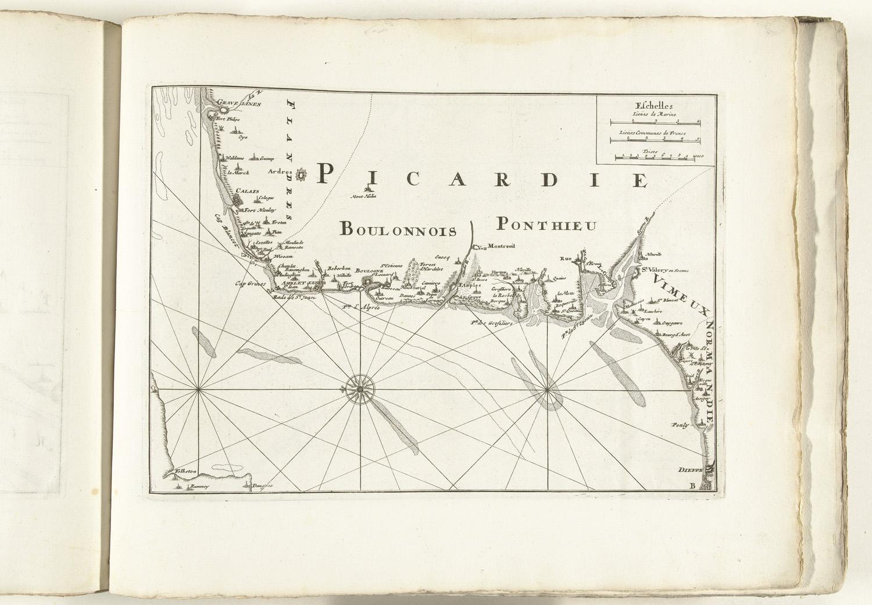 Kaart van de franse kust tussen gravelines en dieppe ca 1702 het geheugen van nederland - Kaart evenwicht tussen werk en ...
