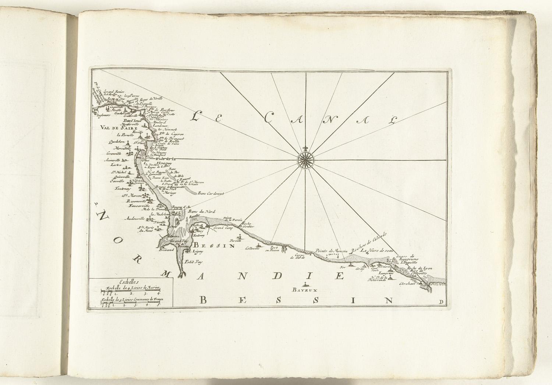 Kaart van de franse kust tussen barfleur en bayeux ca 1702 het geheugen van nederland - Kaart evenwicht tussen werk en ...