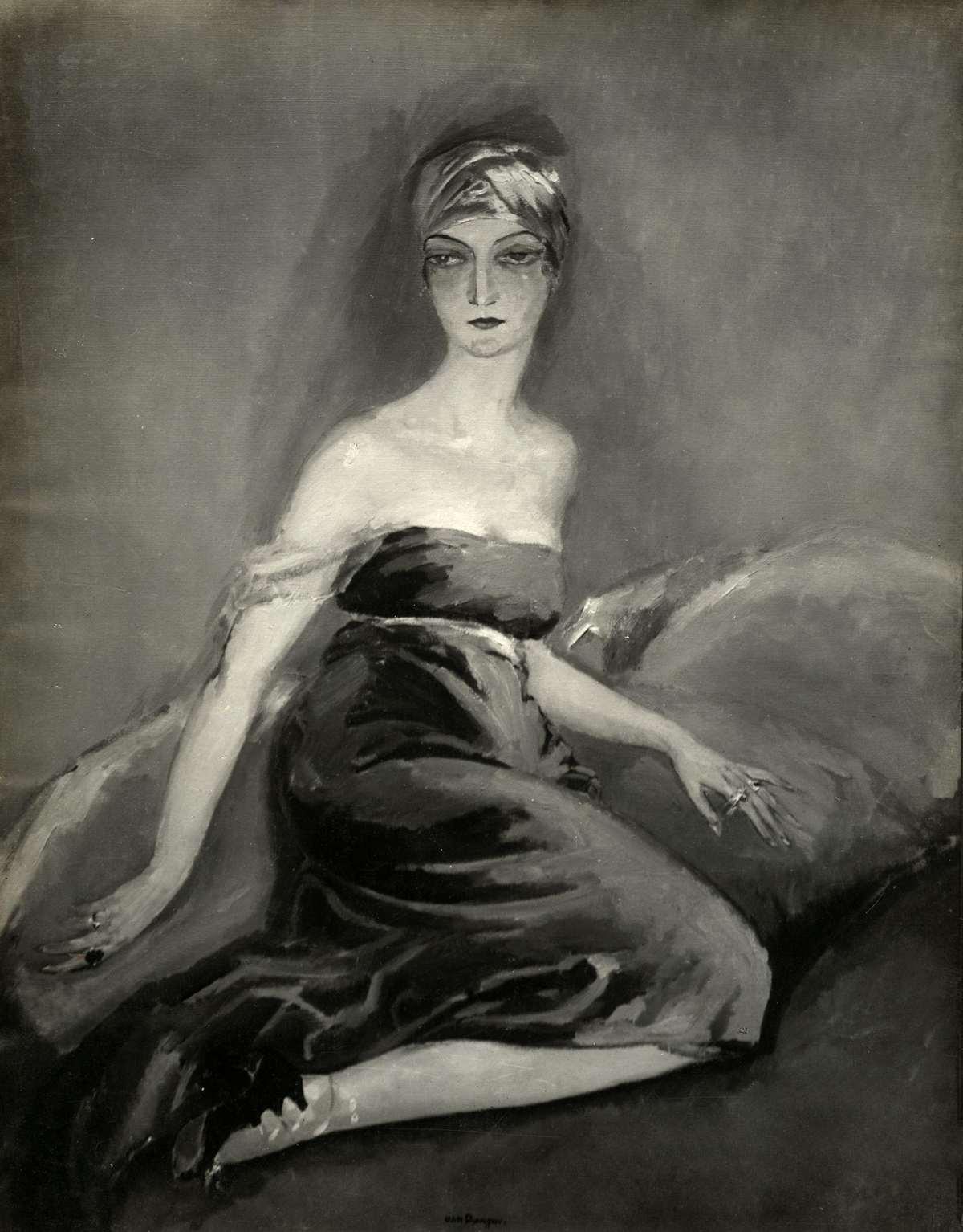Schilderij Portrait D Eve Francis Van De Nederlands