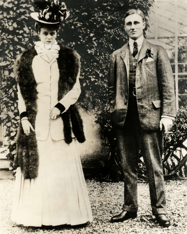 Verlovingsfoto van franklin d roosevelt 1882 1945 en de toen 18 jarige eleanor zonder plaats - Klein kamermeisje ...