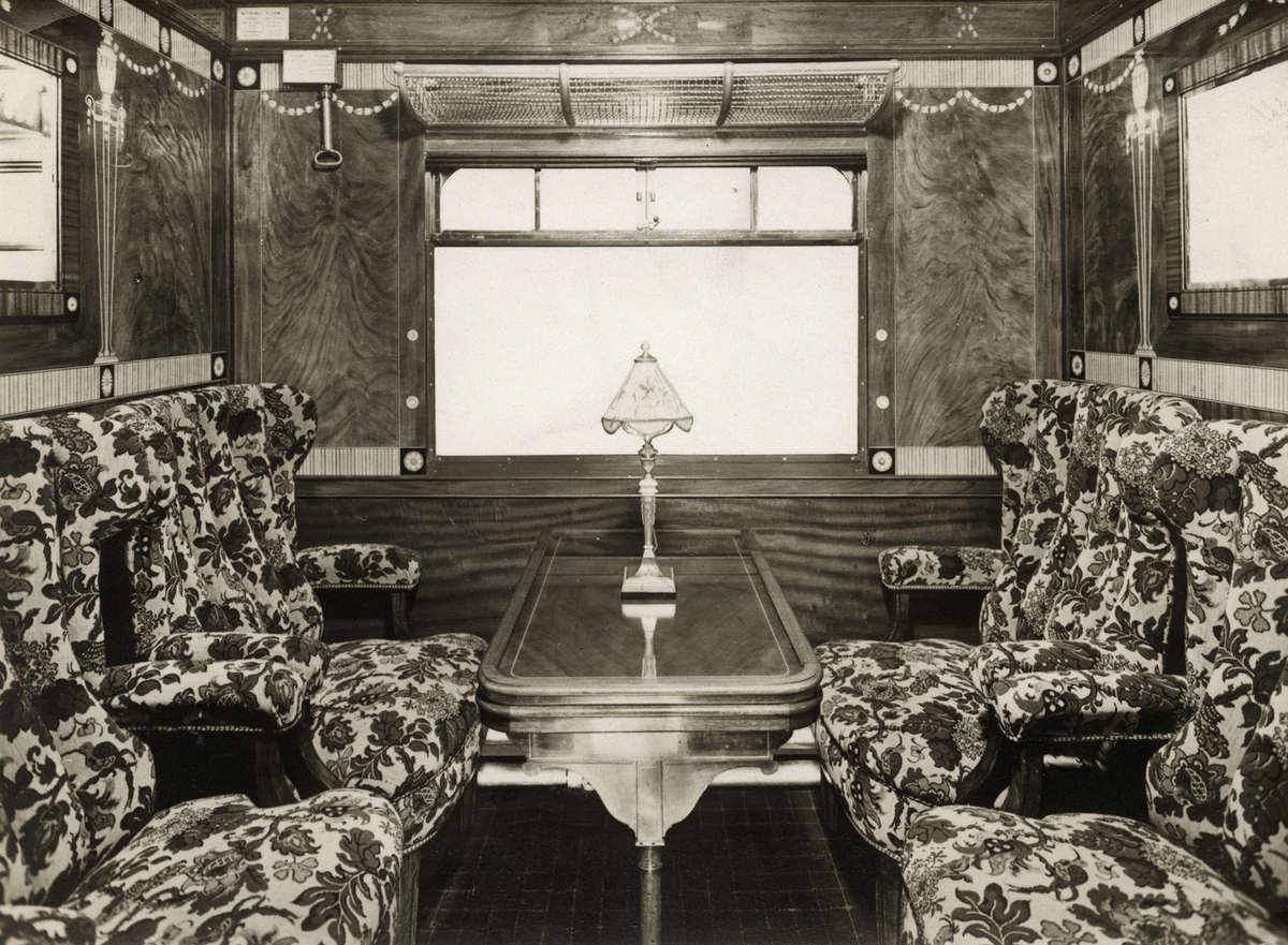 Interieur van een coup van de internationale trein tussen for Interieur 1900