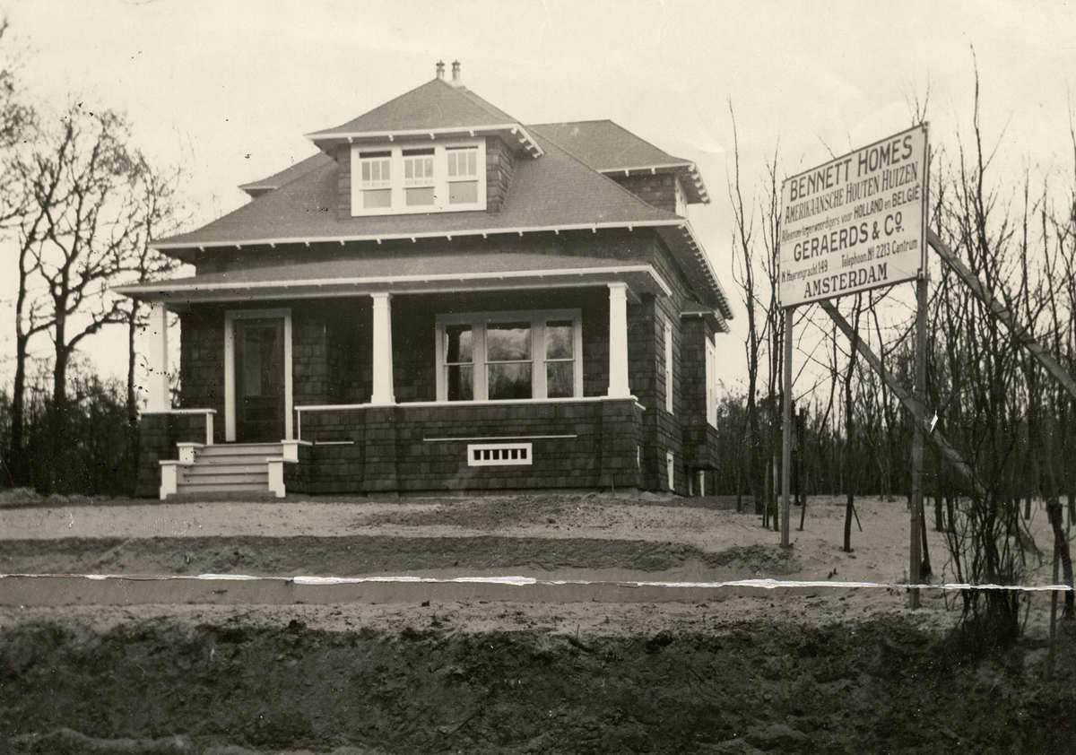 Prefabicated montagebouw amerikaanse prefab houten woningen geplaatst in nederland 1921 - Meer mooie houten huizen ...