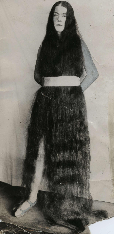 Een meisje met het langste haar ter wereld in 1927 verenigde staten van amerika 1927 - Vloerlamp van de wereld ...