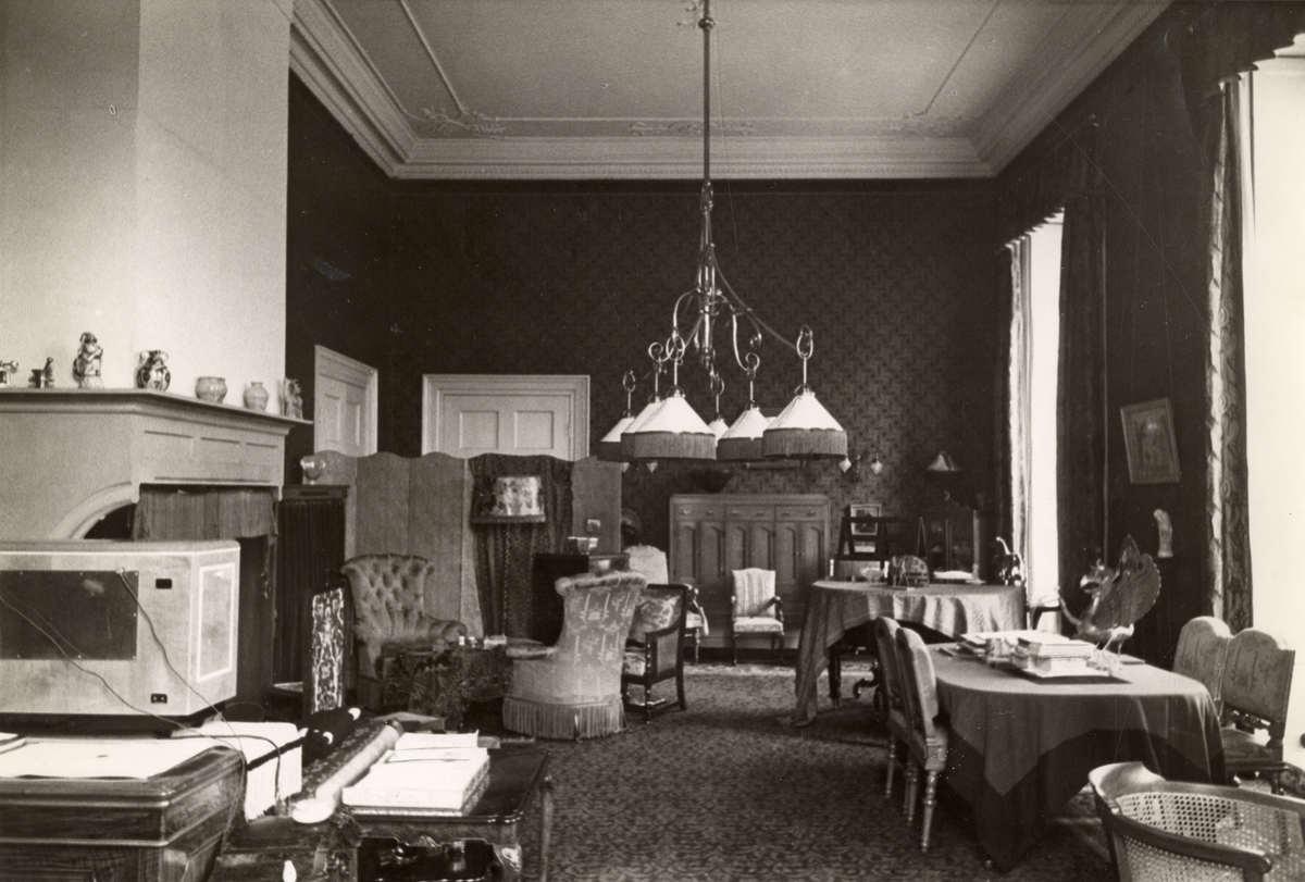 Vorstenhuizen, koningshuis van Nederland. Interieur van de werkkamer ...