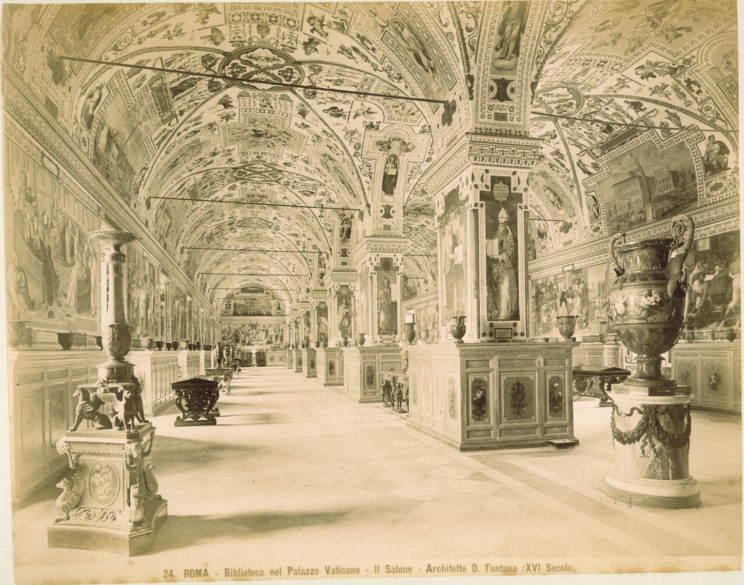 Rome vaticaanstad interieur van de bibliotheek in het vaticaans paleis te zien is de salon - Muur bibliotheek ...