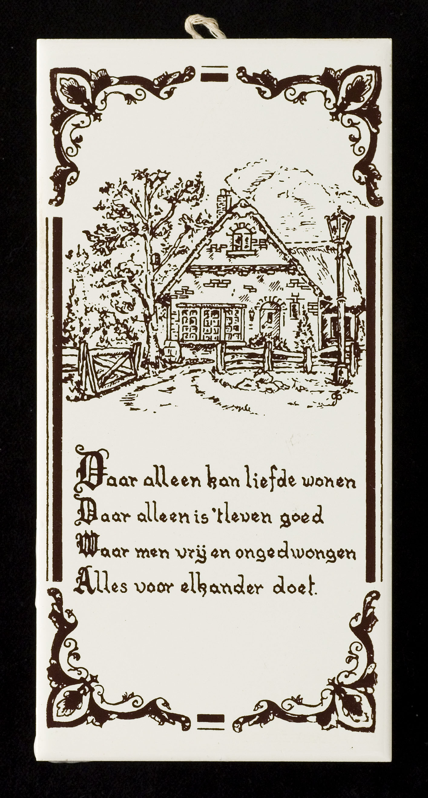 Tegel tekst het geheugen van nederland online beeldbank van archieven musea en bibliotheken - Lino imitatie oude tegel ...