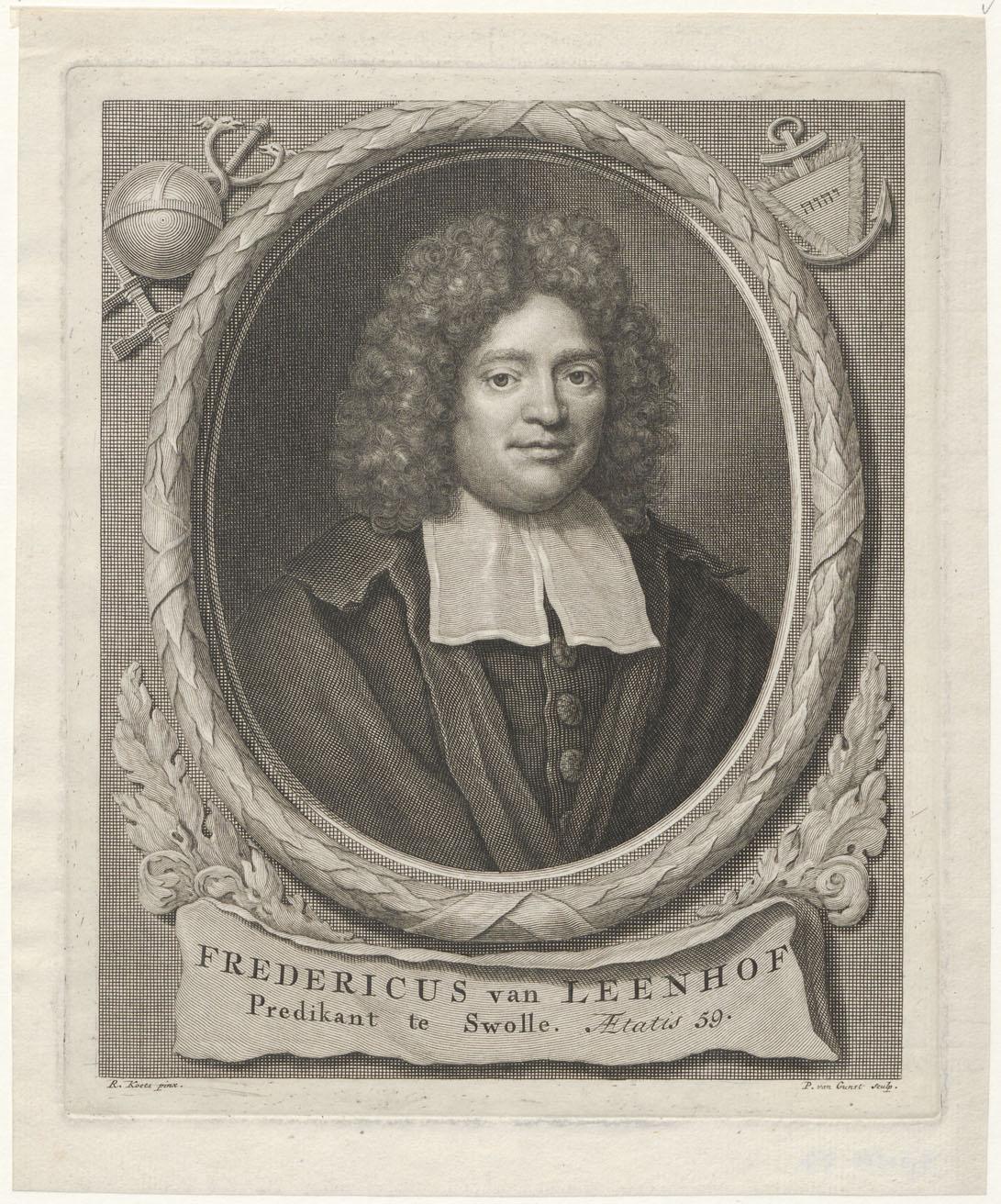 Portret van Fredericus van Leenhof (1647-1712), predikant te Zwolle