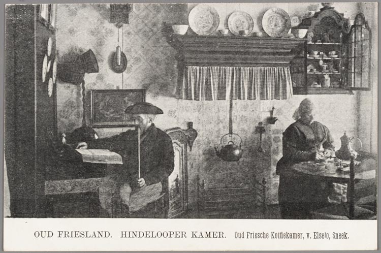 Oud friesland hindelooper kamer sic oud friesche koffiekamer het geheugen van nederland - Kamer jaar oud ...