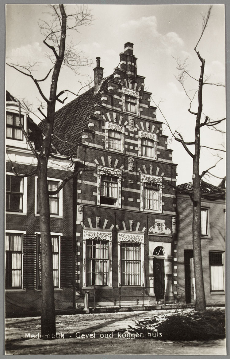 Medemblik gevel oud koggen huis geheugen van nederland - Huis verlenging oud huis ...
